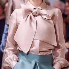Naked Pink Elegant Shirt Collar Solid Work Blouse Top Material: PolyesterNeckline: Turn Down CollarSleeve: Long SleevePattern: PlainStyle: Work Fashion Details, Look Fashion, Womens Fashion, Fashion Tips, Fashion Design, Fashion Fashion, Couture Fashion, Hijab Fashion, Fashion Dresses