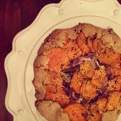 Rustic Sweet Potato & Red Onion Tart
