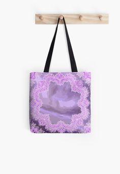 #PurpleHandkerchiefAbstract #ToteBag by #MoonDreamsMusic
