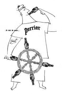 Publicité Perrier 1963 - eau minérale -