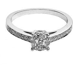 1/4 Carat T.W. Round Diamond 10kt White Gold Engagement Ring $299 @ walmart
