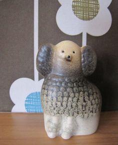 Lisa Larson. Poodle Vintage Ceramic, Earthenware, Poodle, Mid-century Modern, Scandinavian, Lisa, Porcelain, Pottery, Sculpture