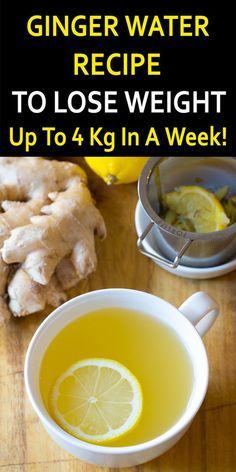 Ginger Water Recipe - How Consuming Ginger Water Early Morning Help You to Lose Weight Faster? How to make ginger water fat burning recipe? Ginger water may help promote weight loss when combined… Fat Burning Detox Drinks, Fat Burning Foods, Fat Burning Tea, Weight Loss Water, Weight Loss Drinks, Drinks To Lose Weight, Detox Water To Lose Weight, Healthy Detox, Healthy Drinks