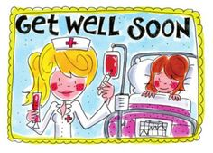 by Blond Amsterdam Get Well Wishes, Scrapbook Borders, Quotes About Everything, Blond Amsterdam, Get Well Soon, Get Well Cards, For Facebook, Happy Moments, Caricature