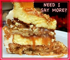 GLUTEN FREE CARAMEL APPLE TOFFEE CHEESECAKE-Why haven't I tried this yet?