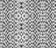 Guilloche Ikat ~ Broken Chevrons ~ Black and White fabric by peacoquettedesigns on Spoonflower - custom fabric