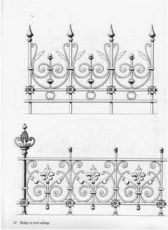 23 Ideas For Wrought Iron Stairs Patterns Wrought Iron Stairs, Wrought Iron Decor, Metal Drawing, Metal Art, Balustrades, Grill Design, Iron Furniture, Iron Art, Tuscan Decorating