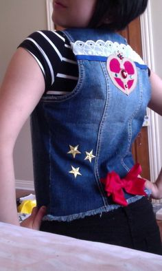fysoftfemme:  Just finished my Cosmic Moon Compact Vest! Up the sailor punx \m/