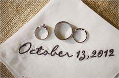 personalized wedding hankie