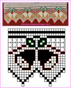 Ganchillos Y PINTURAS Miria: Excluido del ganchillo DE NAVIDAD CON DECLARACIÓN Crochet Edging Patterns, Crochet Borders, Crochet Chart, Thread Crochet, Knitting Patterns, Cross Stitch Boarders, Cross Stitch Patterns, Crochet Dollies, Crochet Lace