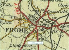 Image result for frome somerset map