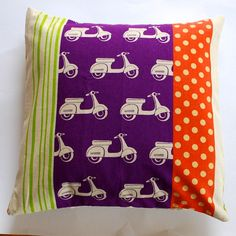 PLONKA  vespa  purple pillowcase no 103 par dalinda sur Etsy, $26,00