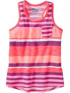 Girls Slub-Knit Jersey Tanks. I love this cute pattern and its super cute and casual for a 5th grader!