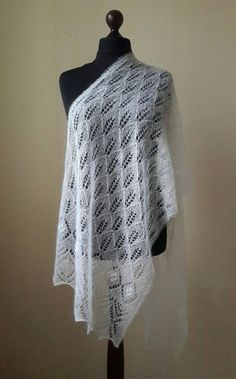 Lace Scarf, Wool Scarf, Knitted Shawls, Crochet Shawl, Wedding Shawl, Wedding Lace, Woven Scarves, Lace Patterns, Knitting Patterns