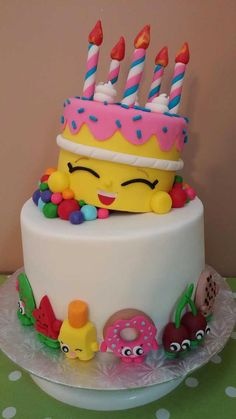 Shopkins cake I made! Shopkins cake I made! Bolo Shopkins, Shopkins Birthday Cake, Birthday Cake Girls, Birthday Cakes, Birthday Ideas, 7th Birthday, Funny Birthday, Happy Birthday, Pretty Cakes