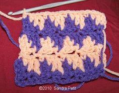 houndstooth crochet stitch tutorial w step by step pics