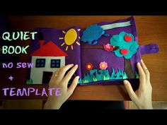 QUIET BOOK tutorial (no sew) + TEMPLATE (Quiet book bez šivanja - proces izrade + predložak) - YouTube