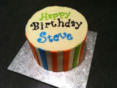 Fun Birthday Cake Happy Steve Cool Cakes Velvet