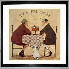 Ready Framed Canvas 40x40cm Sam Toft Tea for Two