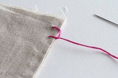 Excellent Pic hand sewing curtains Concepts How to Hand Sew: 6 Basic Stitch Photo Tutorials Sewing Stitches By Hand, Hand Sewing, Embroidery Stitches, Hand Embroidery, Diy Sewing Projects, Sewing Crafts, Sewing Hacks, Apartment Therapy, Diy Pouf