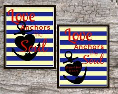 8X10 Print Love Anchors the Soul Nautical Beach by Raising3Cains, $3.00