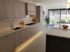 Cashmere & Graphite Shaker Style Kitchen with Silestone Worktops