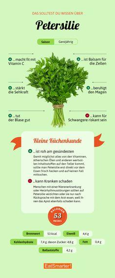 Darum ist Petersilie so gesund | eatsmarter.de #petersilie #infografik #ernährung