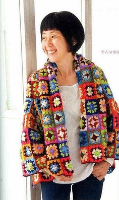 marché magazine by otrasventanas, via Flickr  jacket out of an old afghan....not fashion