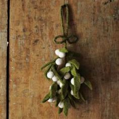 Felt Mistletoe. Handmade by artisans in a village outside of Kathmandu, Nepal.