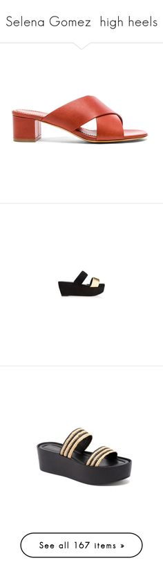 """""""Selena Gomez  high heels"""" by marilia13 ❤ liked on Polyvore featuring shoes, sandals, platform shoes, shiny shoes, flatform platform shoes, flatform platform sandals, polish shoes, pumps, sling back pumps and slingback pumps"""