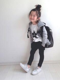 kii_memeさんのコーディネート Kids Fashion Boy, Little Girl Fashion, Toddler Fashion, Toddler Girl Style, Toddler Girl Outfits, Toddler Girls, Little Girl Outfits, Boy Outfits, Style Hipster