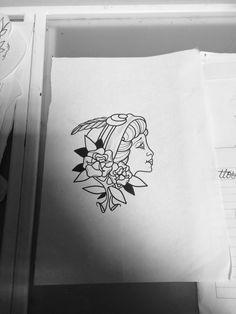 #woman #gipsy #traditionaltattoo #jj #jessicazegretti #jessupersonic #tattooflash #flash #femaletattooartist