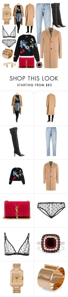 """Camel Coat"" by cherieaustin on Polyvore featuring Chloé, Anthony Vaccarello, Valentino, Yves Saint Laurent, Le Petit Trou, Effy Jewelry, Dsquared2 and Kendra Scott"