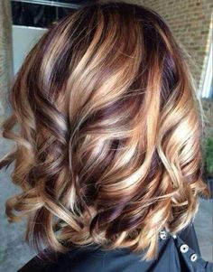 Beautiful mixed colour hair, looks similar to wig colour RS 29 with three mixed shades of honey and red