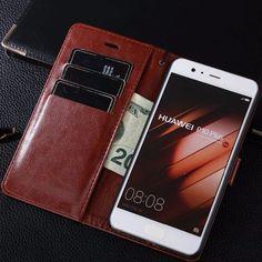 Casos de cartera teléfono Brown Flip Wallet Leather Phone Case Cover for Huawei Mate 9 Pro Mate9 Honor Magic V9 P10 Plus Luxury Card Slot Bag Holder *** Haga clic en la imagen para ver los detalles del producto en el sitio web AliExpress