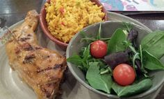 Review of Nando's Meadowhall, Sheffield. Quarter chicken, mango and lime with spicy rice and salad.