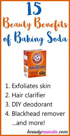 Discover 20 beauty benefits of baking soda for skin, hair and more in this article! I'm sure you have a box of baking soda in your house right now! Baking soda is a household staple that has a myriad of uses – it is a very versatile product that you can use from baking to … #BakingSodaForDandruff
