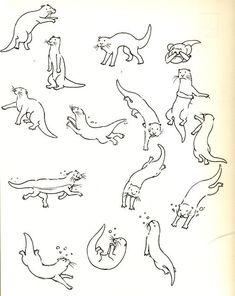 Pix For > Otter Illustration