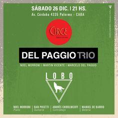Del Paggio Trío + LOBO Diciembre 2015