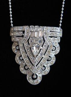 Diamond Art Deco necklace