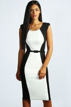 Kitty Lace Panel Belted Midi Dress from boohoo. Shop more products from boohoo on Wanelo. Belted Dress, Dress Up, Bodycon Dress, Going Out Dresses, Dresses For Work, Modelos Fashion, Occasion Dresses, Dress To Impress, Designer Dresses