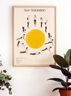 f1c857f402da3 Sun Salutation Yoga Poster. Hatha Yoga posture sequences #YogaYogaYoga Yoga  Benefits, Yoga Routine
