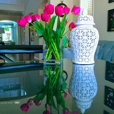 Ginger Jars from HomeGoods can add so many different details to a room. The shape and color as well as style can make each unique in it's own way. I have several (love them) and move them everywhere in my home! {Sponsored Pin} http://wicksnest.com