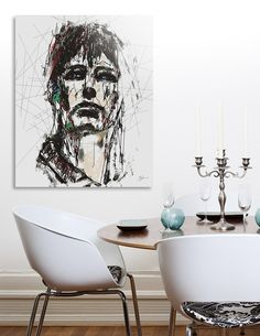 Discover «Staggered Abstract Portrait», Numbered Edition by Aluminum Print by Galen Valle - From $59 - Curioos Aluminium Sheet, Abstract Portrait, Mixed Media Artists, High Gloss, Things To Come, Prints, Design