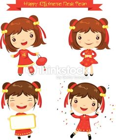 chinese new year traditional costumes cartoon - Google Search