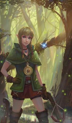 Artist: yagaminoue  -  The Legend of Zelda  -  Linkle  -  http://yagaminoue.deviantart.com/  -  #yagaminoue