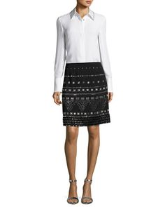 Skirt+&+Blouse+by+St.+John+Collection+at+Neiman+Marcus.