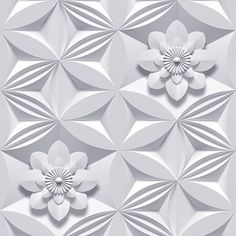 Wall Flower Wallpaper by Graham & Brown | This intriguing design by Marcel Wanders has a trompe l'oeil effect of carved stone but it's actually flat to the touch