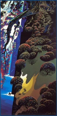 Enchanted Coast by Eyvind Earle, 1980