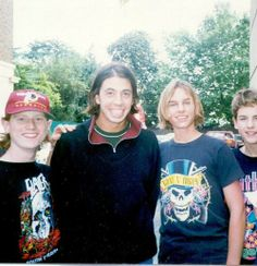 Rare photo Nirvana with fans